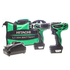 HITACHI KC10DFL 12V IMPACT/COMBI DRILL TWINPACK INC 2 12V X 1.5AH BATTERIES