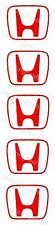 5 H Honda Centre Cap Stickers 55x45 Decals R S DC5 EP3 EP2 S2000 Civic ref 00030