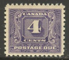 Canada #J8, 1930 4c Postage Due - Second Postage Due Series, Unused NH