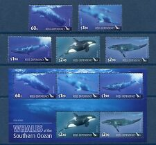 Ross Dependency 2010 Year Set - Complete NH Scott L114-18 L118a Whales Set Sheet
