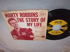 MARTY ROBBINS-THE STORY OF MY LIFE/ONCE-A-WEEK DATE-COLUMBIA 41013 VG+/VG+ 45+PS