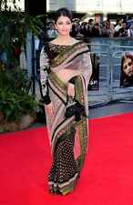 Bollywood Aishwarya Rai Designer Indian Ethnic Hot Black Women Saree Sari