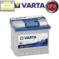 BATTERIA AUTO VARTA 52AH 470A C22 FIAT UNO (146A/E) 50 1.1 37KW
