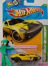 2012 Hot Wheels Treasure Hunt #11 FORD SHELBY GR-1 CONCEPT #61 Scan∞Yellow;Black