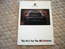 PORSCHE OFFICIAL 996 911 MILLENNIUM LIMITED EDITION SALES BROCHURE 2000 USA Ed