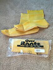 Over Boots Yellow Latex Nuke Boot Size XL textured sole HAZMAT