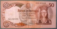 PORTUGAL 50 ESCUDOS NOTE ISSUED 28.02. 1964, P 168