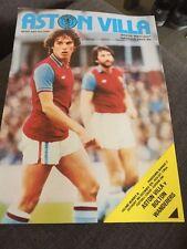 Aston Villa V Bolton Wanderers 1978 Soccer/football Programme