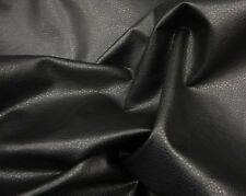"Vinyl Faux Leather Black Ford Upholstery Fabric by the yard 54"" wide"