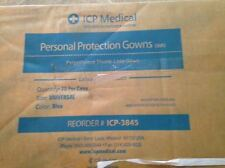 Box of 75 ICP Medical Protection Gowns Universal Size Blue Latex free Material