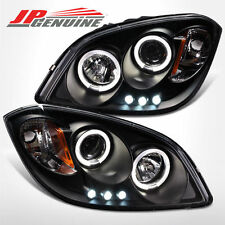 LED DUAL HALO PROJECTOR HEADLIGHTS BLACK - CHEVY COBALT 05-10/PONTIAC G5 07-09