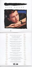 CD SINGLE Rick Astley Stock Aitken Waterman PWL Never Gonna Give You Up Together
