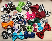 BOWS, 24 PIECE ASSORTMENT WITHOUT CLIPS, CRAFTERS LOT, FREE SHIPPING!