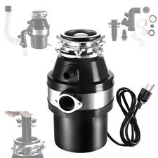 1/2 HP Continuous Feed Garbage Disposal Home Kitchen Food Waste w/ Plug 4100 RPM