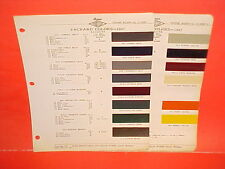 1947 PACKARD SUPER CUSTOM CLIPPER TOURING SEDAN CLUB COUPE PAINT CHIPS BROCHURE