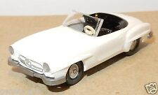 MICRO WIKING HO 1/87 MERCEDES BENZ 190 SL CABRIOLET ROADSTER BIANCA BLANCHE