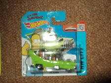 """HOT WHEELS 2015 """"THE HOMER"""" THE SIMPSONS CAR SEALED SHORT CARD"""