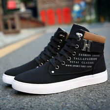 Mens Fashion Canvas High Top Ankle Boot Trainers Pumps Shoes Sports sneakers