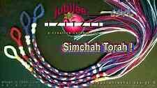 JUBILEE TZITZIT Temple Colors 100%COTTON / WHITE ACCENT Tsitsit MessianicTallit