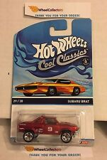 Subaru Brat RED * ORANGE OTTO Card * Hot Wheels * Cool Classics *Y28