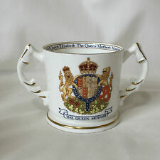Retro Queen Mother 1990 Aynsley Bone China 90th Birthday Loving Cup Mug Royal