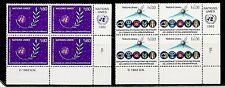 United Nations/Geneva SC # 109-110 Outer Space Type. MNH