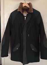 Men's vtg Woolrich forest green wool shooting hunting parka coat jacket size M