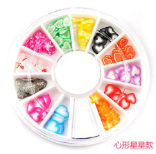 Fashion 3D Fimo slices Nail Art Tips DIY Decoration Heart/Star Style A47#1