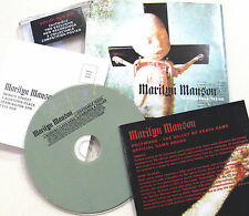 MARILYN MANSON CD Disposable Teens CD #1 w/ POSTER 2 NEW Tracks Unplayed