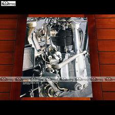 NORTON 500 CS1 1929 / Vue Gros plan sur moteur - Poster MOTO #PM1046