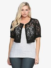 TORRID SEXY PIN-UP LACE SHRUG, Size 2  NWT