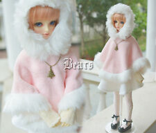 New Arrival Sweet Snow Sakura Pink Cloak/Coat For 1/3 SD10 LUTS BJD Doll Clothes