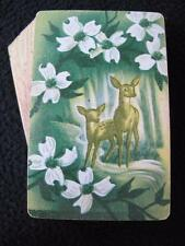 VINTAGE ART DECO 1930's DECK PACK OF PLAYING CARDS - DEER in a FOREST