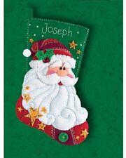"Dimensions 18"" Christmas Felt Stocking Kit ""Sequined Santa"" felt sequins, beads"