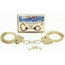 Metal Handcuffs Safety Release For Fancy Dress Novelty With Two Deluxe Keys New