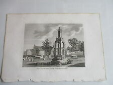 1787 ferro a croce Acton Chiesa Yard Gloucestershire Incisione FRANCIS GROSE