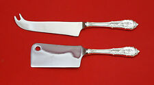 Rose Point by Wallace Sterling Silver Cheese Server Serving Set 2pc HHWS  Custom
