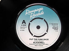"""BLACKWELL Put The Funk Back-Move Your Ass Gringo Rampage 7"""" 1978 Excellent"""