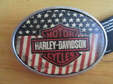 Harley Davidson American USA Flag Bar & Shield Belt Buckle