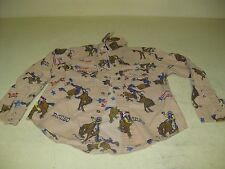 VINTAGE SMALL BOY'S RUSTLER BY WRANGLER RODEO WESTERN SHIRT PEARL SNAPS