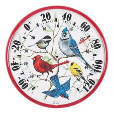 "ACU-RITE SONG BIRD GARDEN YARD OUTDOOR THERMOMETER 12"" DIAMETER"
