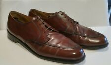 COLE HAAN Green Label Split Toe Derby Lace-Up Made in USA Mahogany Brown Men 11M