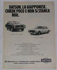 Advert Pubblicità 1980 DATSUN CHERRY N. 10 4 P. 1000 CC / 120 Y 1200
