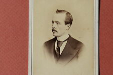 REUTLINGER PARIS CDV 1867 PORTRAIT D'HOMME COSTUME CRAVATE