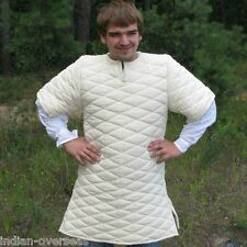Thick padded white Gambeson play drama movies theater custom Medieval armor