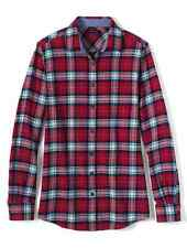 Lands End - Women's XL Tall (18T) - NWT - Gala Red Plaid Flannel Shirt
