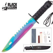 "14"" CS GO Tactical Fixed Blade Hunting Knife Bowie RAINBOW  Survival"