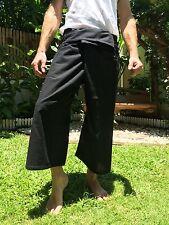 Thai Fisherman Pants 100% Cotton Black Yoga, Beach Wear