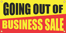 GOING OUT OF BUSINESS SALE 2'x4' VINYL RETAIL BANNER SIGN