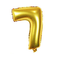 1 pcs 16 Inch Gold Foil Balloons Birthday Wedding Party Decoration Number 7